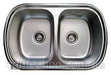 Мойка кухонная двойная из нержавеющей стали  Galati Vayorika 2C Textura