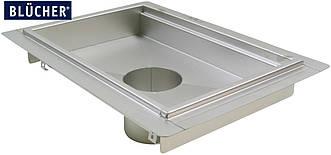 Кухонний канал BLUCHER з фланцем, нержавіюча сталь, 400x800 мм, DN110, арт. 664FH008-15