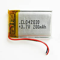 Li-Pol аккумулятор 30 х 20 x 4 встраиваемый 3.7V 200 mAh