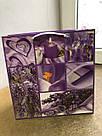 Подарочный бумажный пакет КВАДРАТ ''Фиолет'' (24*24*10), фото 2