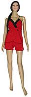 NEW! Жіночі піжами - негліже з мереживом - серія Charm Red стрейч-котон ТМ УКРТРИКОТАЖ!