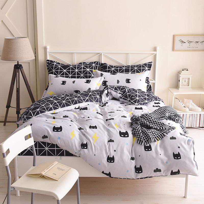 Комплект постельного белья Маска Бэтмен (двуспальный-евро)