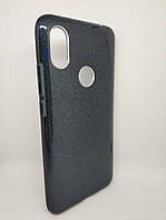 Чехол с блестками для Xiaomi Redmi S2 силикон черный, фото 1