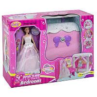 Игровой набор с куклой типа Барби Anlily 99047, уютная комнатка с кроваткой, туалетным столиком и аксессуарами