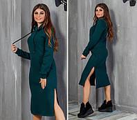 18222d78f64 Длинное Теплое Платье с Капюшоном — Купить Недорого у Проверенных ...