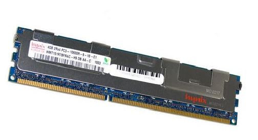 Серверная память HYNIX 4GB 2Rх4 PC3-10600R-9-10-E1 DDR3 ECC Memory бу
