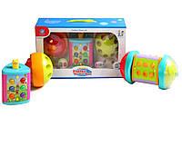 Муз. игрушка 855-25A (24шт/2)каталка,3 активные панели,свет, звуки животных, режим игр, в коробке