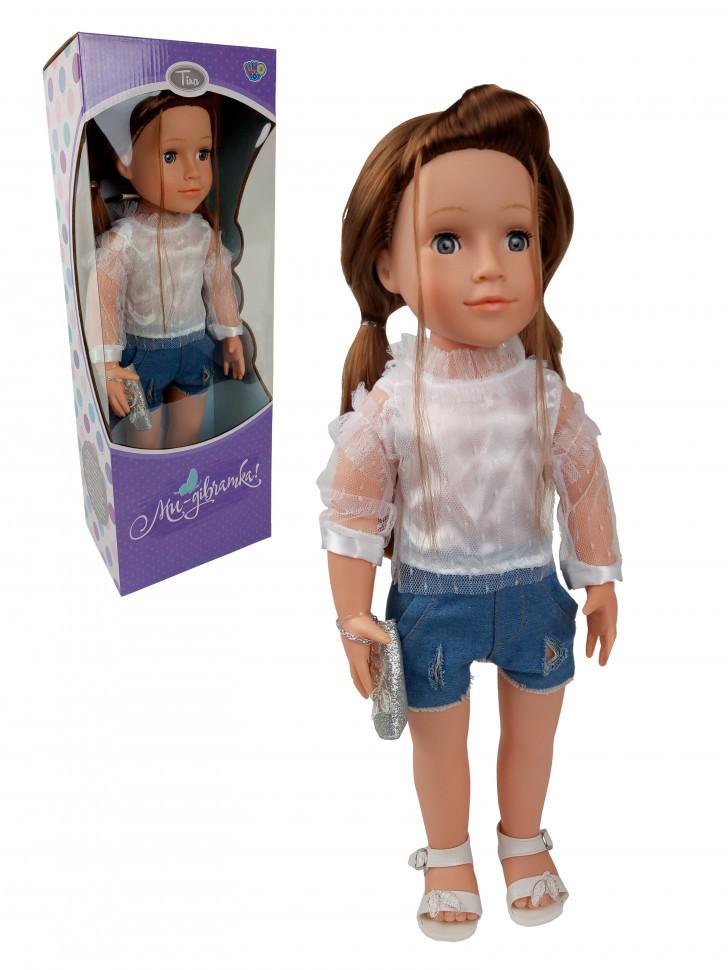 Кукла M 3924 (Тина) 48 см, поет песни, рассказывает стихи