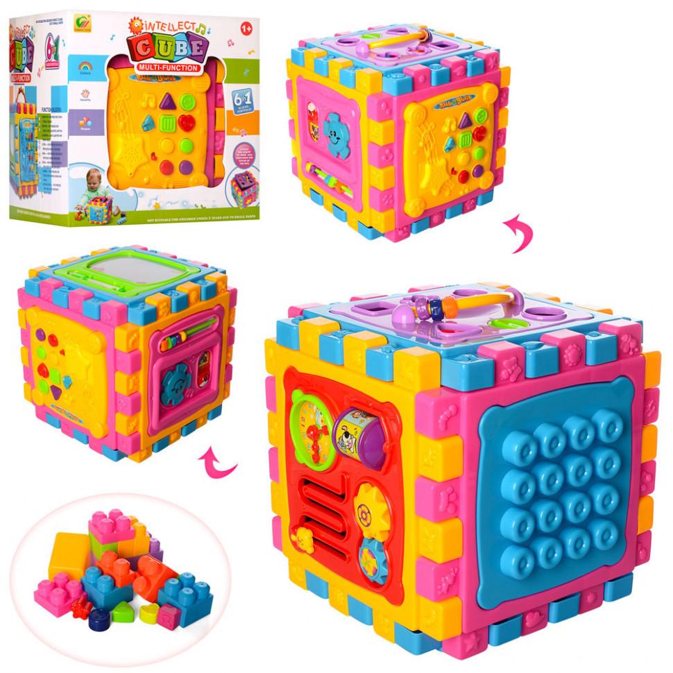 Дитячий ігровий центр мультифункціональний 6 в 1, розвиваючий сортер BB321A, іграшки для самих маленьких
