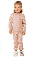 Вязаный костюм для девочки Звездочка пудрового цвета 86-116р, фото 1