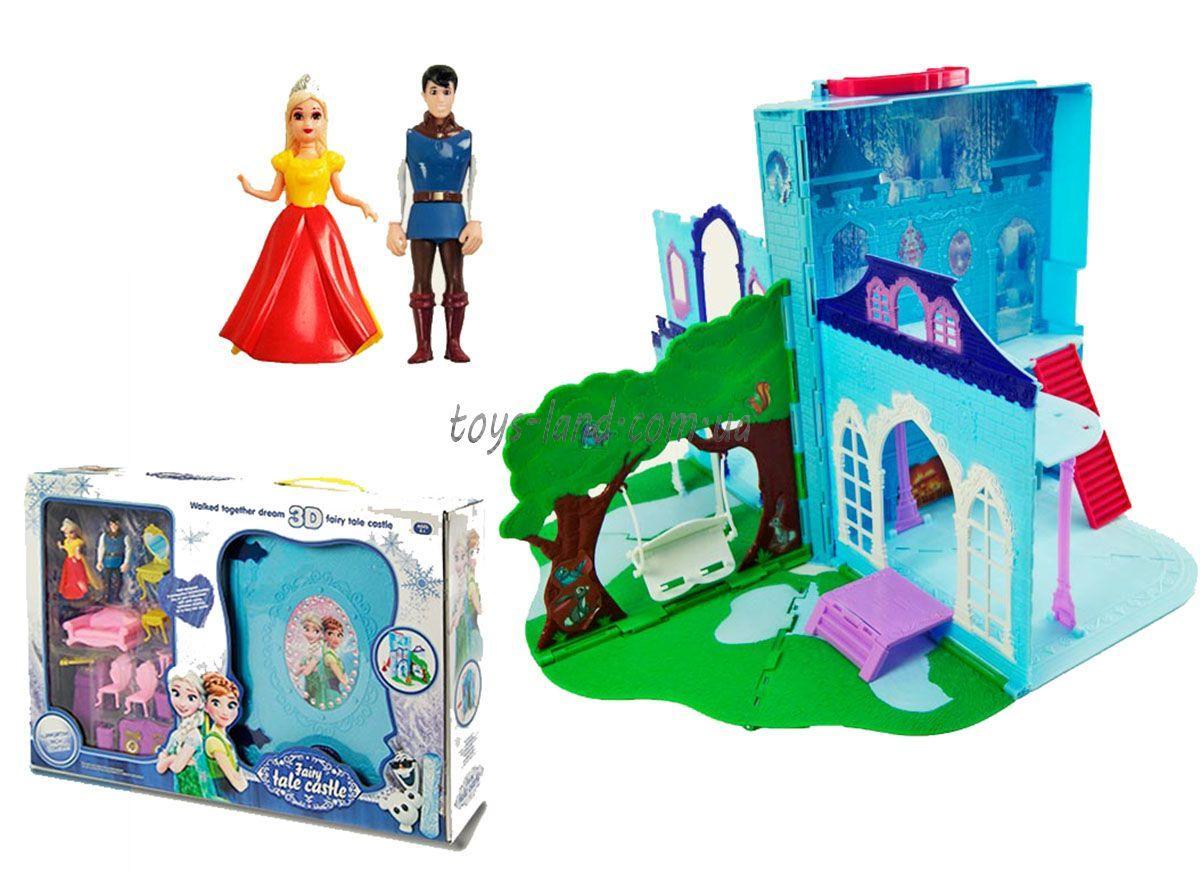 """Замок-чемодан """"Frozen"""" LM2038(LM2348) (12шт/2) куколки, мебель, аксесс, в кор.54*10*36см"""