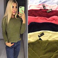 Стильный мягкий женский свитер травка