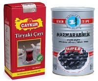 Чай чорний Caykur 500 г (Дрібнолистовий) + оливки 800 г в подарунок