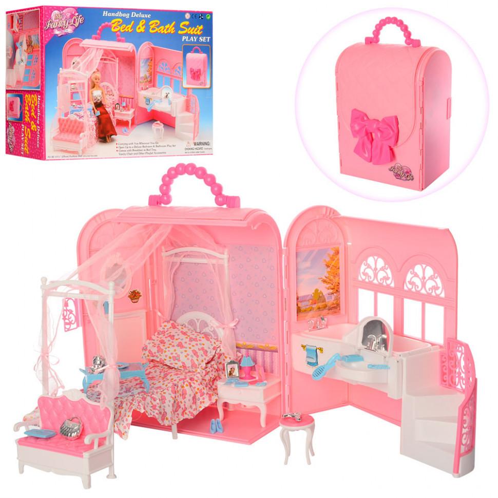 Лялькова меблі, спальня з ванною 9988