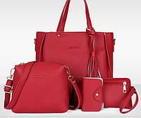 0036 Женская сумка Эко кожа  комплект красный