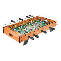 Футбол настольный 1089A в деревянном корпусе, по 4 штанги у каждого игрока