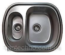 Кухонная мойка из нержавеющей стали  на две чаши Galati Vayorika 1,5C Textura
