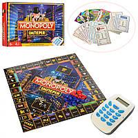 Настольная игра Монополия с терминалом M 3801, фишки, банковские карты, терминал, со звуковыми эффектами