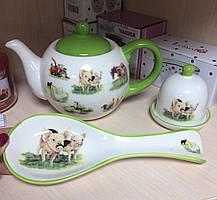 Набор посуды Ферма. Символ года (Чайник, лимонница, подставка под ложку) 358-854-3