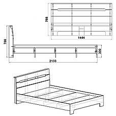 Кровать Стиль-140, фото 2