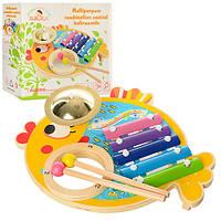 Дерев'яна іграшка Ксилофон MD 0903, розвиваюча іграшка для дітей від 1 року