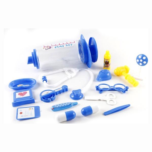 Доктор 5010-1 (48шт/2)3 види,стетоскоп,термометр,пінцет,ножиці,окуляри,молоточок...у шприці