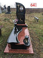 Памятник из лезниковского гранита и габбро, фото 1