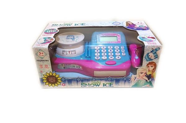"""Касовий апарат """"F"""" 66063BX (30шт/2) світло-звук,сканер,калькулятор,ваги в кор.32*17,5*13,5 см"""