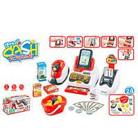 Игровой набор Магазин, кассовый аппарат с терминалом 668-48, со световыми и звуковыми эффектами