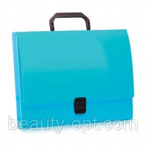 Портфель пластиковый A4 Economix на застежке, 1 отделение, салатовый