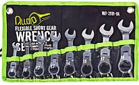 Набор ключей комбин. трещоточных укороченных с карданом  8-19 мм Alloid 8 предметов (НКУ-2091-8К), фото 1