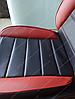 Чехлы на сиденья Ауди А4 Б5 (Audi A4 B5) (универсальные, кожзам, пилот СПОРТ), фото 10