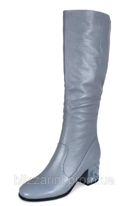d58d03ff0 Женские осенние сапоги Blizzarini (кожа) голубой - размер 35-40 - Женская  обувь