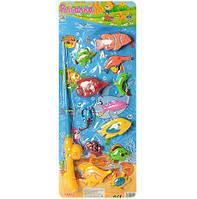 Детская игра Рыбалка M 0052 U/R, магнитная удочка и 12 рыбок