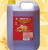 Sweet Chilli Sauce for Chicken, Соус солодкий чилі, для курки, Aroy-D,5,4(4,5л), кг/уп, Мо
