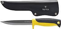 Нож TOPEX универсальный, с кожаным чехлом