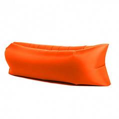 Надувной шезлонг диван лежак гамак 240 см Оранжевый