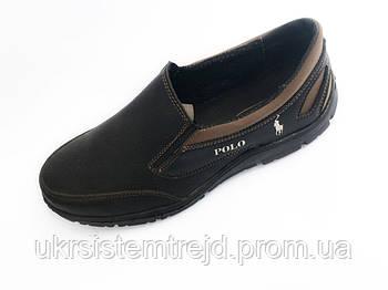 Туфли мужские кожзам Polo