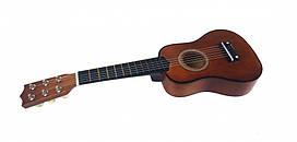Гитара детская (M 1370) деревянная, коричневого цвета