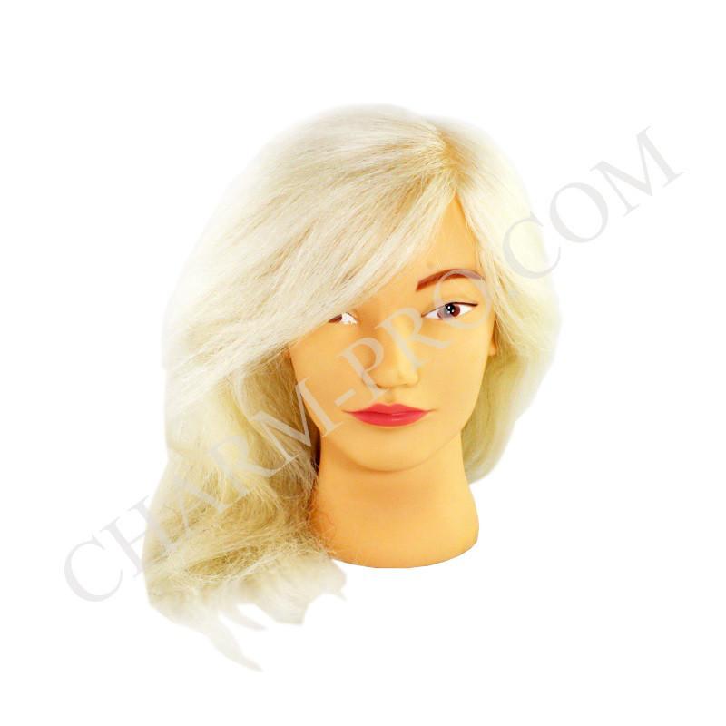 Голова тренувальна для моделювання зачісок. Натуральна. Блонд