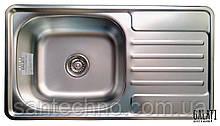 Прямоугольная кухонная мойка из нержавеющей стали с крылом  Galati Milana Satin