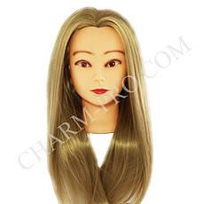 Голова навчальна для моделювання зачісок. Штучна. Світло русява.
