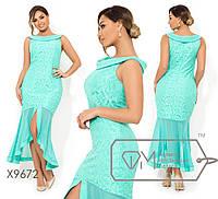 Нарядное гипюровое платье на бретелях. Большие размеры. Разные цвета. 5d938ff24296e