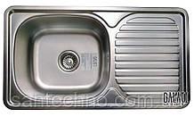 Кухонная прямоугольная мойка из нержавеющей стали с крылом  Galati Anka Textura