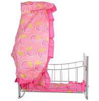 Кроватка для кукол Baby Born и аналогов, с качалкой,  9349, 47х38х35 см