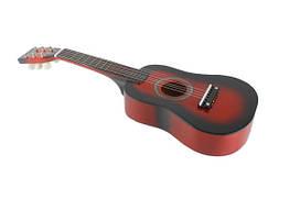Гитара детская (M 1369) деревянная, красного цвета