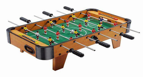 Футбол настольный ZC 1001 A в деревянном корпусе, по 3 штанги у каждого игрока