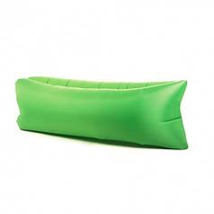 Надувной шезлонг диван лежак гамак 240 см Зеленый