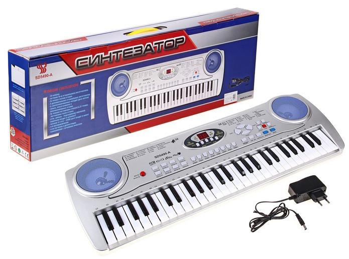 Дитяче піаніно-синтезатор SD-5490 з мікрофоном
