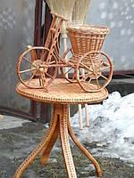 Плетеный велосипед из лозы